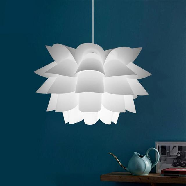 diy for room modern item lampshade pendant ceiling puzzle chandelier lotus shade lamp decoration assembly lights