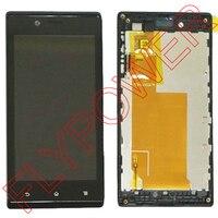 עבור Sony Xperia J/ST26 ST26i ST26a תצוגת מסך LCD עם מסך מגע Digitizer עצרת + מסגרת על ידי משלוח חינם