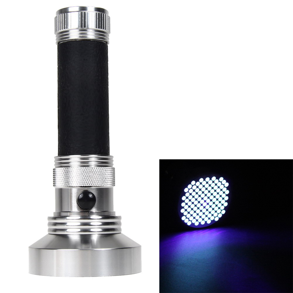 Aluminum Mini UV Ultra Violet LED Blacklight 100 LED UV Flashlight Portable Flashlight Torch For House Cleaning