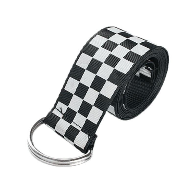 Women Checkerboard   Belts   Cummerbunds Canvas Waist   Belts   Casual Checkered 2019 Waistband 135cm Black White Plaid   Belt