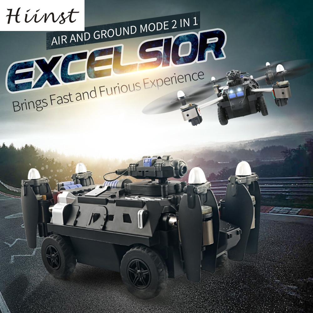 HIINST H40WH Tank Amphibious (Land Sky) 720p wifi 2.4G 4CH 6 Axis Wifi Hover RC Quadcopter Drone Tank w/ 720P Camera Ag18  P30 hobbyboss rising soviet type 37 amphibious tank t early 83818