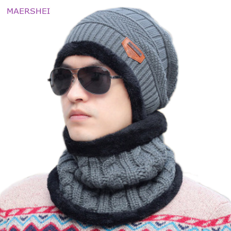 MAERSHEI Unisex Winter Neck Warmer   Skullies     Beanie   Knitted Hat Cap   Beanies   Women Men's Cotton Thicken Warm Bonnet Gorros