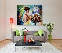 100% Ręcznie Malowane Sztuki Malowania Ciała Piękne Nagie Dziewczyny Paleta Kolorów Obrazu dla Home Cafe Bar Dekoracje Ścienne