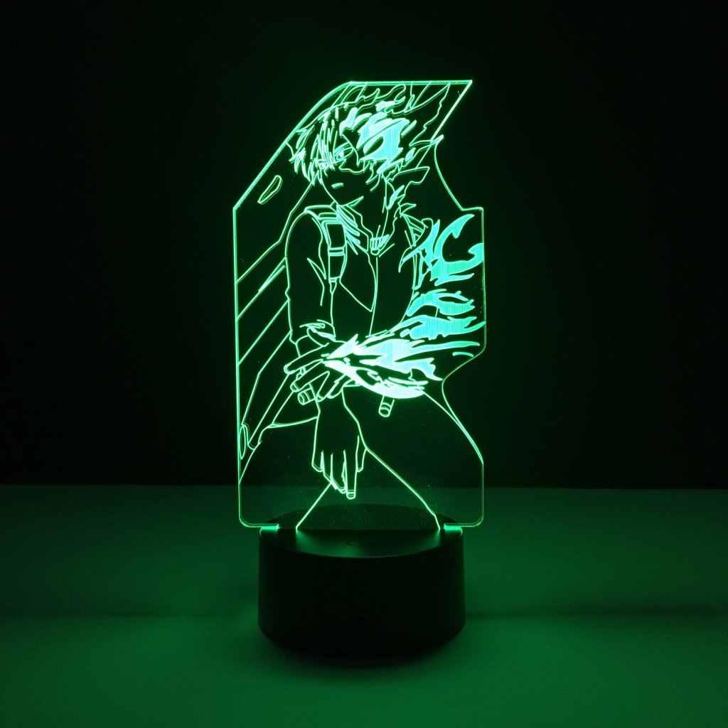 بارد الاطفال Led ليلة ضوء Shoto تودوروكي الشكل أنيمي بطلي الأكاديمية شمعة ل الطفل ديكور غرفة نوم الأولاد Led ليلة مصباح