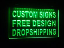 design your own Custom ADV LED Neon Light Sign Bar open Dropshipping decor shop crafts led(China)
