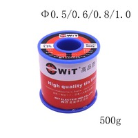 Free Shipping WIT 500g 0.5mm 0.6mm 0.8mm 1.0mm Low melting point Solder Wire Soldering tin wire For Various welding spot 1pcs