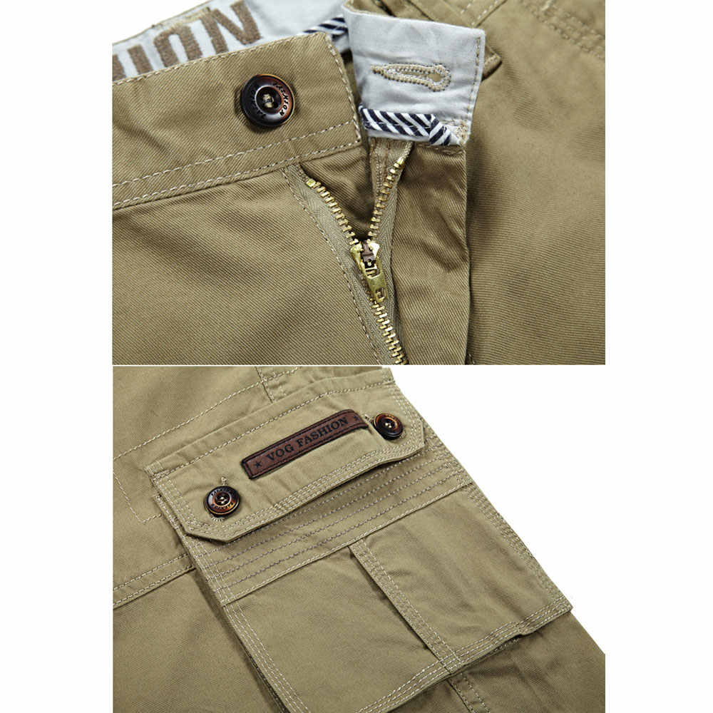 2019 pantalones cortos Cargo de combate moda playa militar ejército Casual más tamaño 30 ~ 44 6 colores marca-ropa sólida color pantalones de algodón