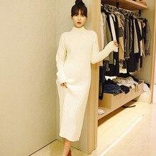 Korea Winter Long Sleeve Knit Turtleneck Sweater Slim gorgeous beautiful women  oversize loose big bust size Dress xl size add