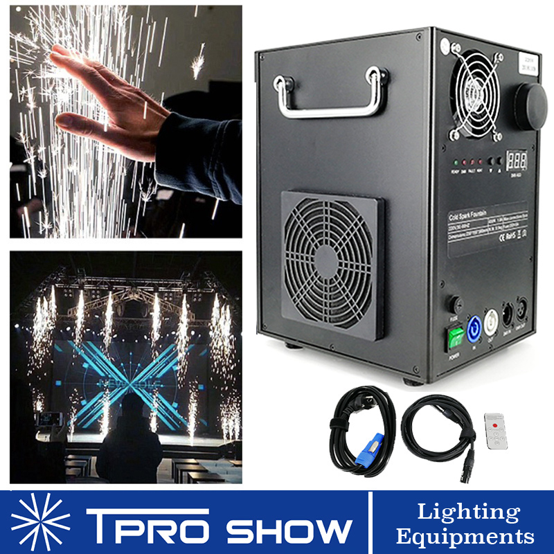 Remote Fireworks Machine DMX Spark Fountain 400W Cold Pyrotechnics Effects for Wedding Event Show 600W Sparklers