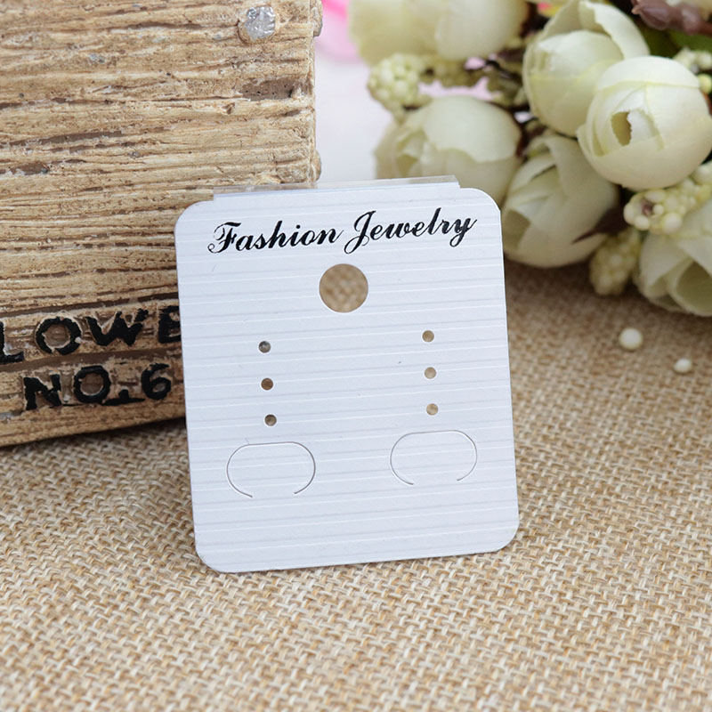 200pcs/lot 4x4.5cm White Paper Plastic Earring Cards High Quality Earrings Display Packaging Jewelry Card Jewelry Tags Wholesale