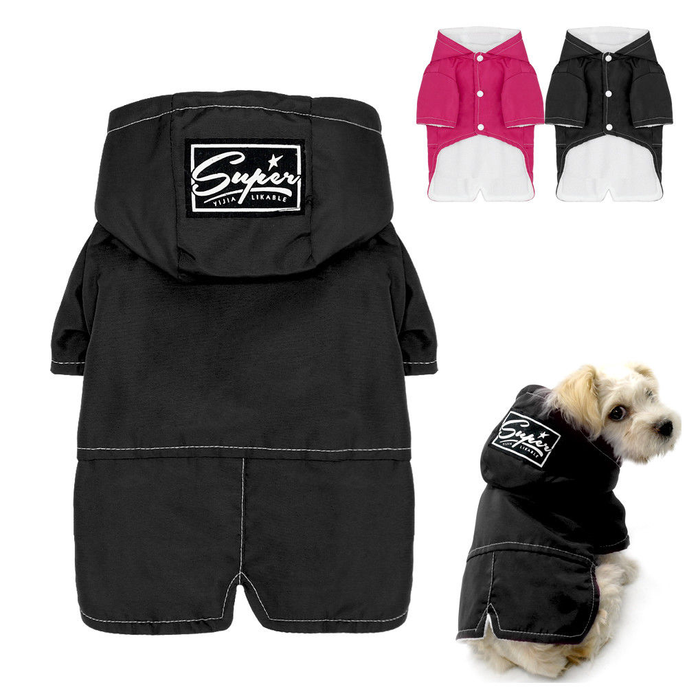 Hot Winter Dog Clothes Waterproof Pet Puppy Coat Jacket Thick Chihuahua Clothing For Small Medium Large Dogs  S M L XL XXL Pink