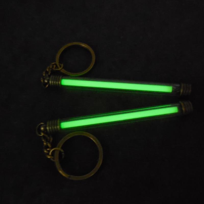 5 * 80mm Luz Automática tubo de Gas Tritium Impermeable Luces de Emergencia Tritium Gas Glow Llavero Tubo Festival Regalo para 25 Yeas