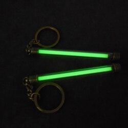 5*80mm Automatische Licht Tritium Gas rohr Wasserdicht Notfall Lichter Tritium Gas Glow Keychain Rohr Festival Geschenk für 25 Yeas
