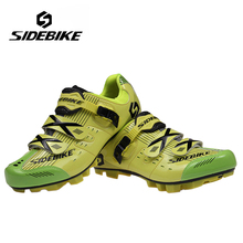 SIDEBIKE Professional Men Women Bicycle MTB Self-Locking Shoes Breathable Cycling Shoes Mountain Bike Racing Athletic Shoes