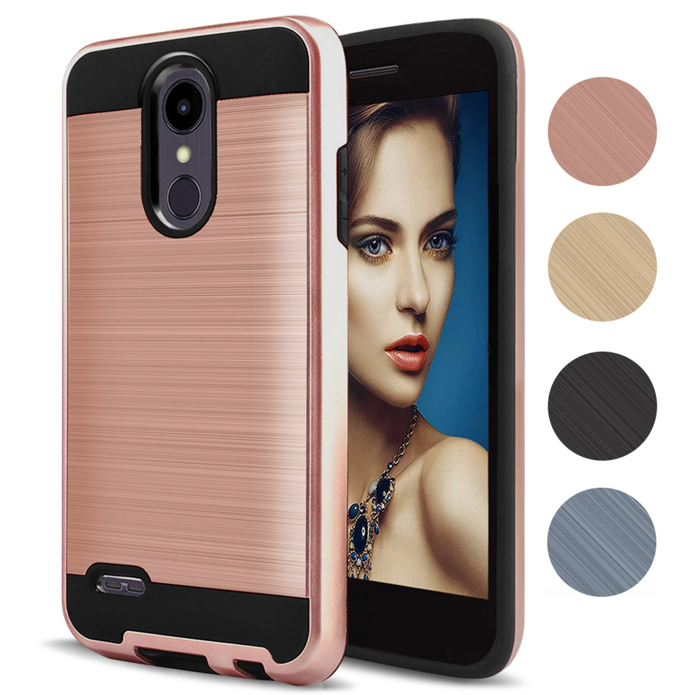 Hybrid Soft TPU Shockproof Tough PC Back Cover Skin For LG