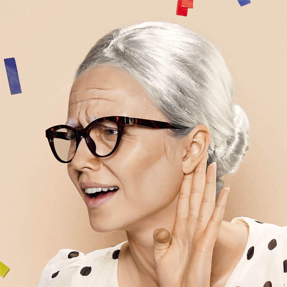 New Develop Brand New Old Lady Grandma Granny Grey Wig Bun Hair Grand Mother Fancy Dress Costume Party Wig Gift Dropshipping