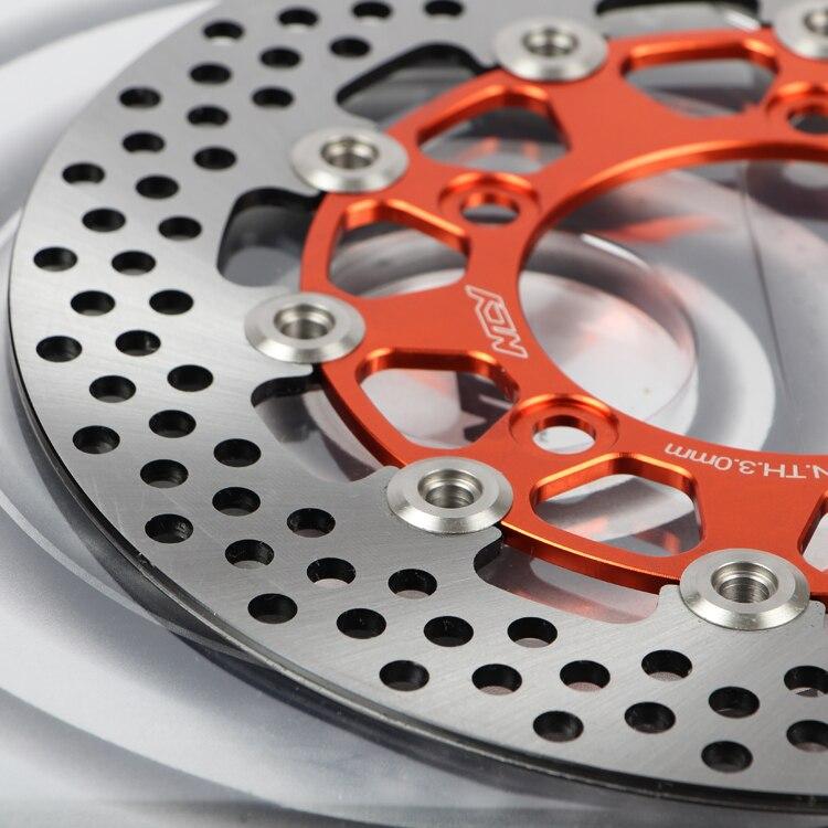 Haute qualité 260mm Moto modification De Frein disque matériau En alliage D'aluminium fait Moto avant et arrière de frein disques