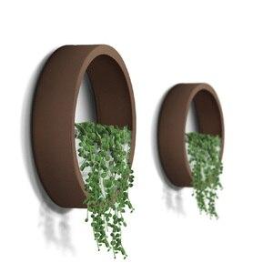Image 5 - 3 pièces/lot créatif Vase mural en métal solide couleur suspendus Vases bonsaï pour la décoration de la maison artisanat/artificiel fleur support planteur