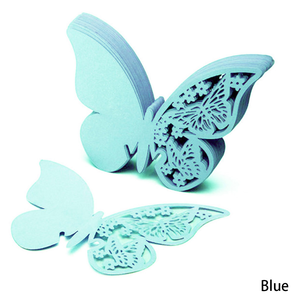 Butterfly Cut-out Place Escort Paper Cards 50Pcs/Set Style Gift Party Decorations