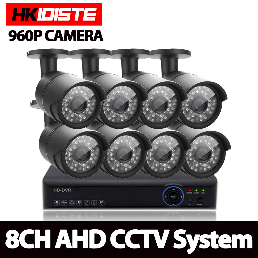 AHD 8CH 1080N HDMI DVR 2500TVL 960P HD Outdoor Security Camera System 8 Channel CCTV Surveillance