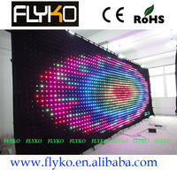 Free shipping Fire proof dj equipment curtain led dmx