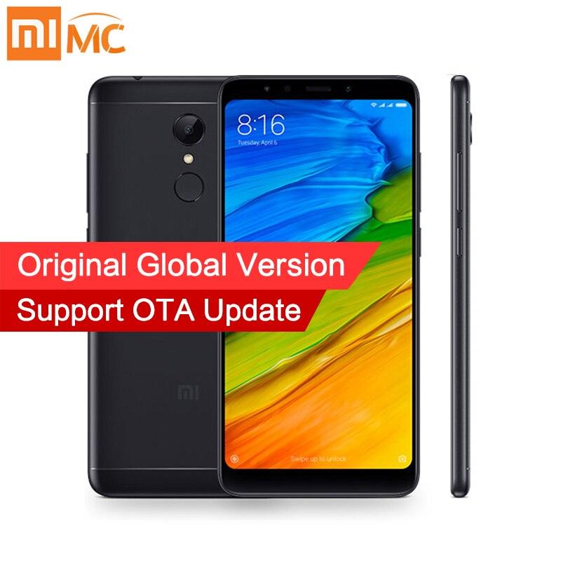 Глобальная версия Xiaomi Redmi 5 3 ГБ 32 ГБ смартфон 18:9 полный Экран 5,7 HD Дисплей Snapdragon 450 Octa Core 12MP камера MIUI 9