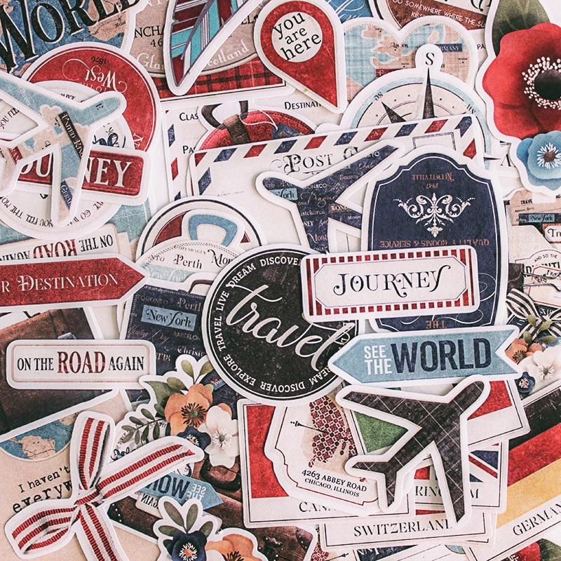 90 teile/paket Vintage Europäischen Amerikanischen Reise Flagge Außenhandel Flagge Label Alte Karte Tags Dekorative Aufkleber DIY Scrapbooking planer