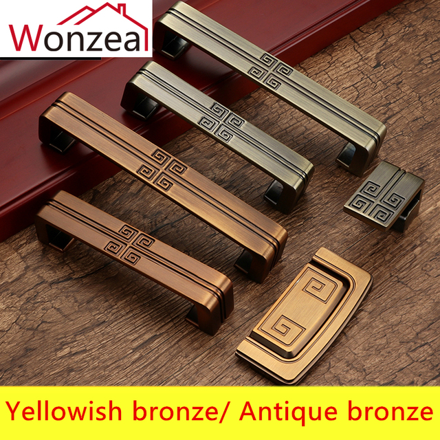 Vintage Antique Bronze Furniture Handles Chinese Style Door Zinc Alloy Cabinet S Kitchen And Drawer Pulls