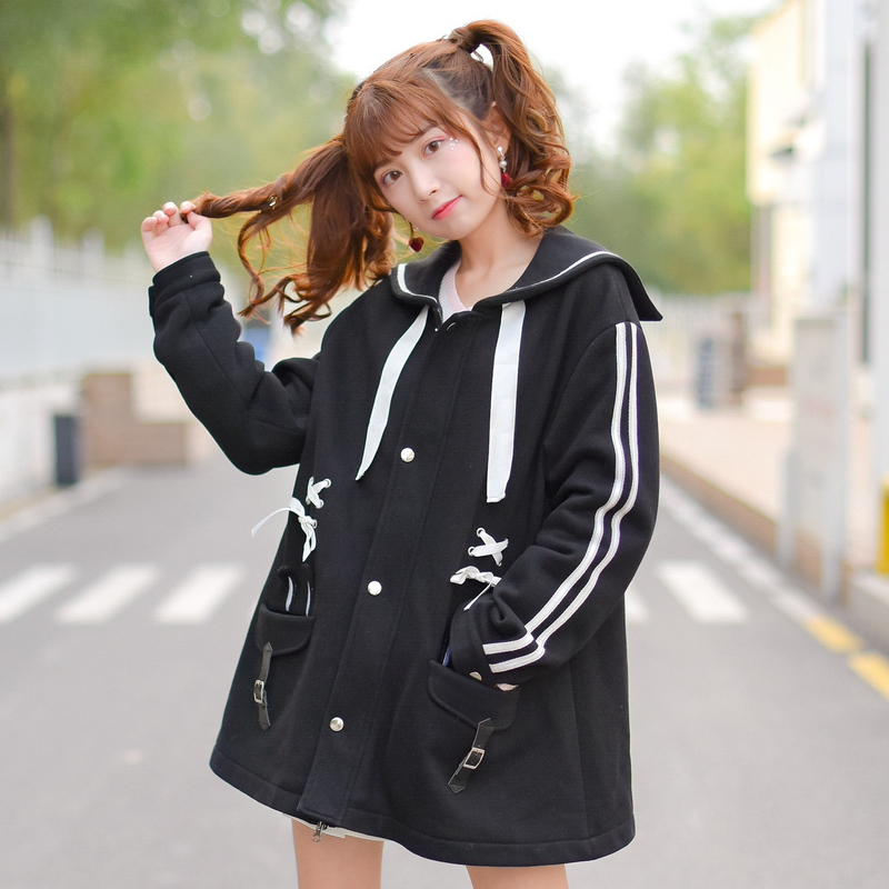 2017 new cute and sweet Original design sugar rabbit black clip  cotton-padded coat brown sugar kitchen new style down home recipes from sweet west oakland