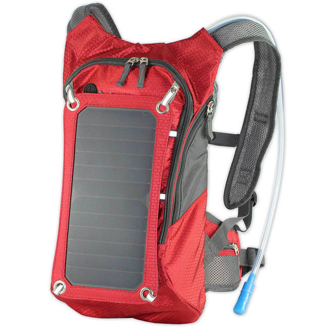 Solar backpack solar power board outdoor sports travel to mobile phone digital electrical power supply water bag 2