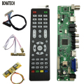 V56 Universal LCD TV Controller Driver Board PC/VGA/HDMI/USB Interface 4 Lamp Inverter30pin 2ch-8bit Lvds Cable7 Keypad 560284