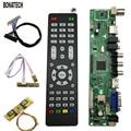 V56 Universale TV LCD Bordo Di Driver Del Controller PC/VGA/HDMI/Interfaccia USB 4 Lampada Inverter  Pin 2ch-8bit Lvds Cavo  7 Tastiera 560284