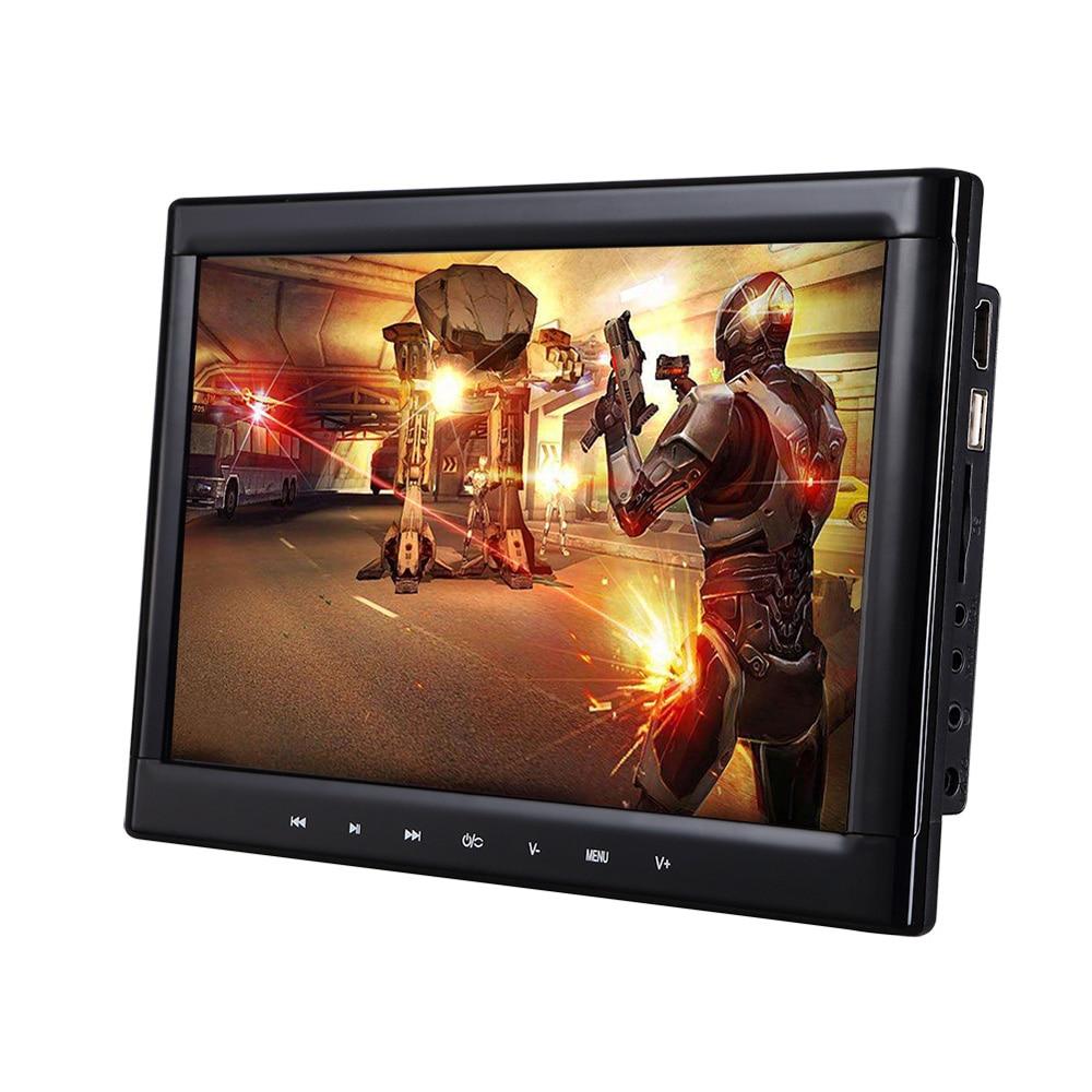 10.1 Inch Car Headrest DVD Player - Region Free IR Remote Control Games Emulation SD Card Slot HDMI Universal Fit