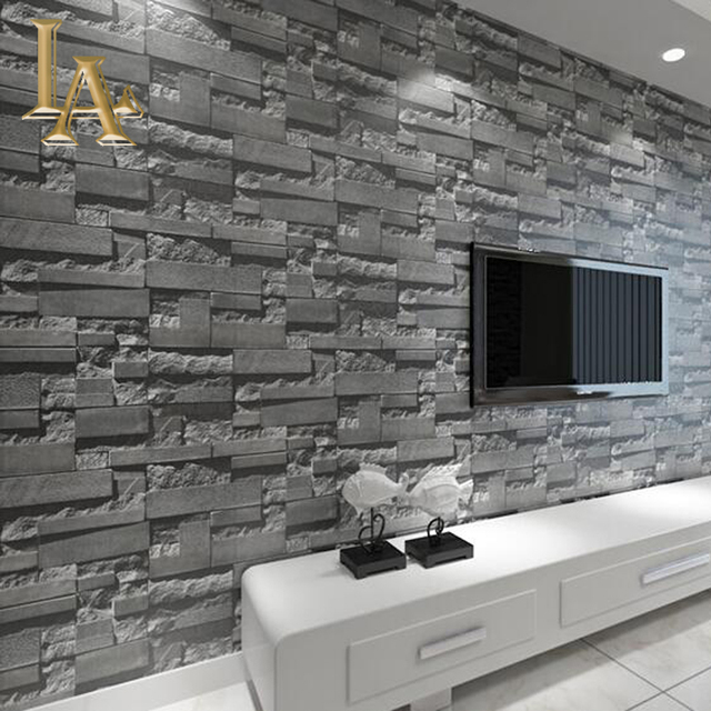 Vintage 3D Stone Wall Brick Texture Wallpaper For Bedroom Living Room Sofa TV Background Decor Non