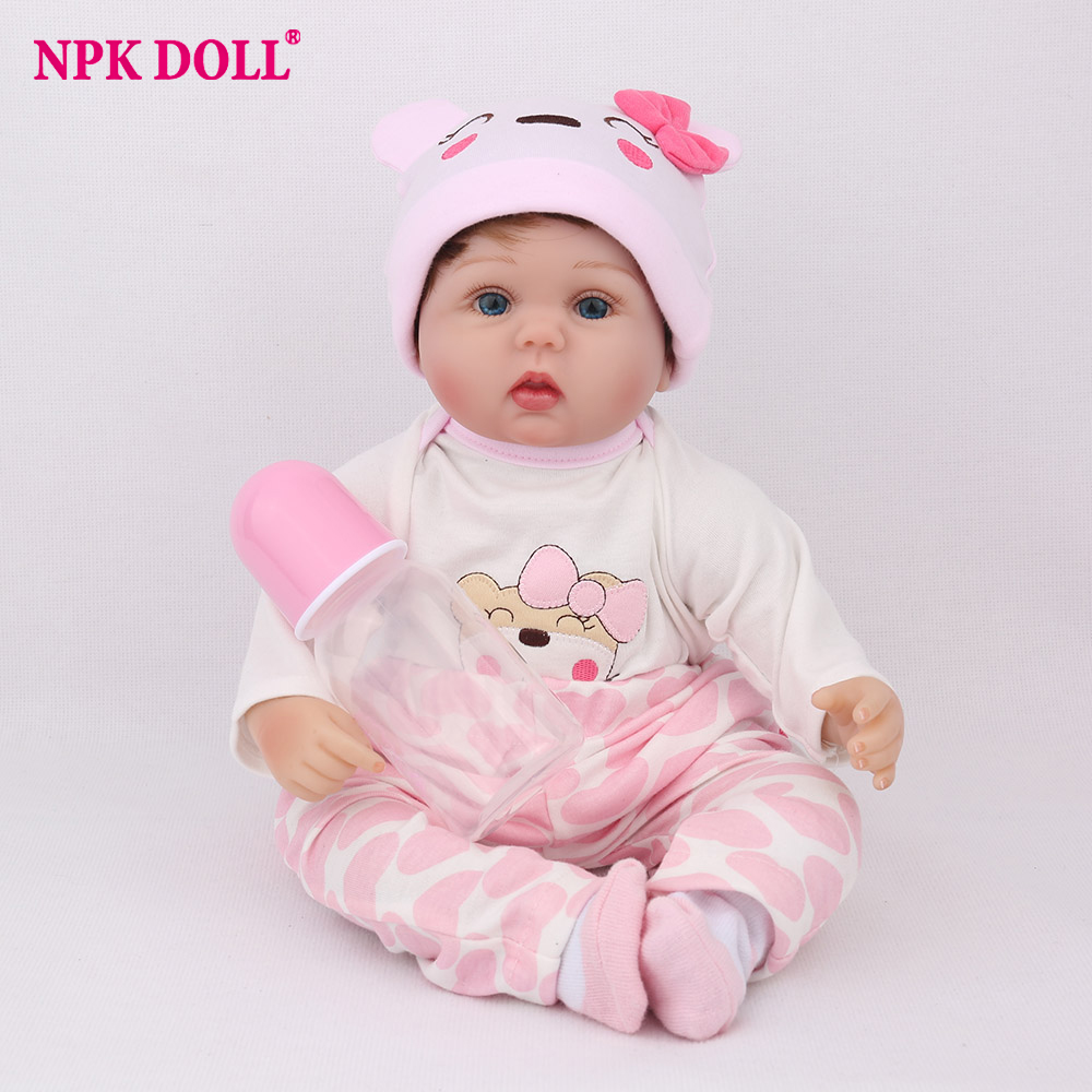 NPK DOLL Reborn Baby Doll 16 inch Lucy Soft Silicone Limbs Cotton Body Plush Toys Cute Christmas Gift Girls kids Playmate LovelyNPK DOLL Reborn Baby Doll 16 inch Lucy Soft Silicone Limbs Cotton Body Plush Toys Cute Christmas Gift Girls kids Playmate Lovely