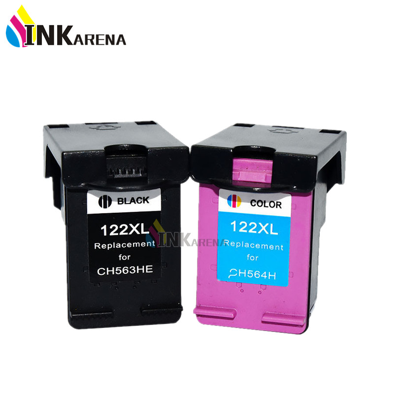 INKARENA 122XL Refilled Ink Cartridge Replacement for HP 122 for Deskjet 1000 1050 2000 2050s 3000 3050A 3052A 1010 1510 Printer 2pcs ink cartridge compatible for hp 122 xl for hp deskjet 1000 1050 2000 2050 2050s 3000 3050a 3052a 3054 1010 1510 2540