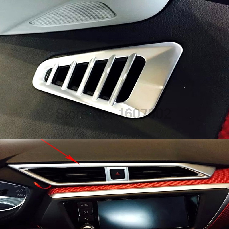 For Nissan Lannia 2016 3pcs Chrome Car Interior Air Condition AC Vents Outlet Frame Cover Molding Trim Protective Decorative