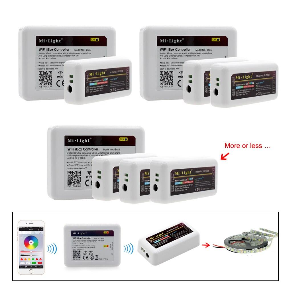 Mi Licht RGBW LED Controller RF 2,4G/Wifi Fernbedienung DC12-24V für ...