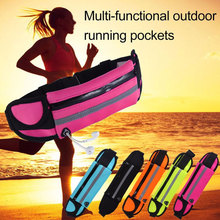 Outdoor running luminous pockets waterproof mobile phone belly bag men and women fitness sports accessories