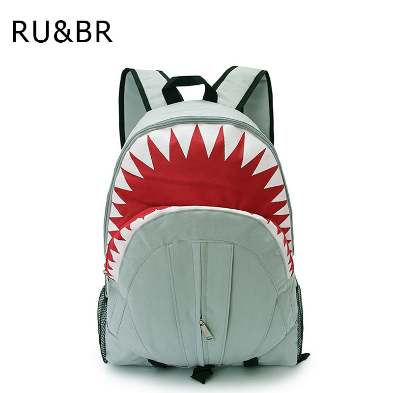 RU&BR Hot Sale Backpack Fashion Lovely Shark Pattern Children Backpacks  Fashion High Capacity Travel Bag School Bag Boy And Gir  hot sale high quality ultra light waterproof child school bag lovely children backpack girls backpack grade class 1 6