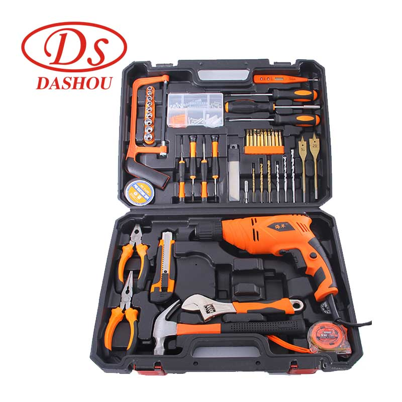 DS Electric Drill Electrician Repair Power Tool Set Multifunctional Household Woodworking Repair Combination Manual Tool Kit 24pc 1 household multifunctional tool kit combined plastic tool box hardware combination tool set