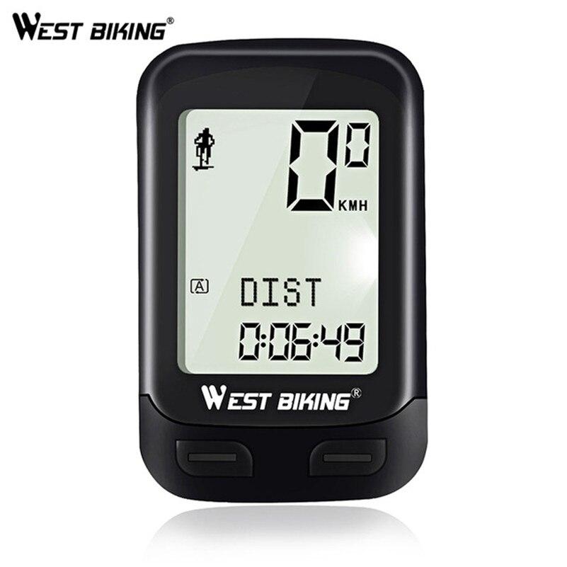 WEST BIKING 5 Language Bicycle Computer Fit For 2 Bike Speedometer Wireless Waterproof Backlight Stopwatch Cycling Odometer