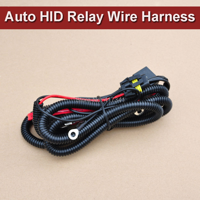 free shipping universal relay wiring harness hid xenon. Black Bedroom Furniture Sets. Home Design Ideas