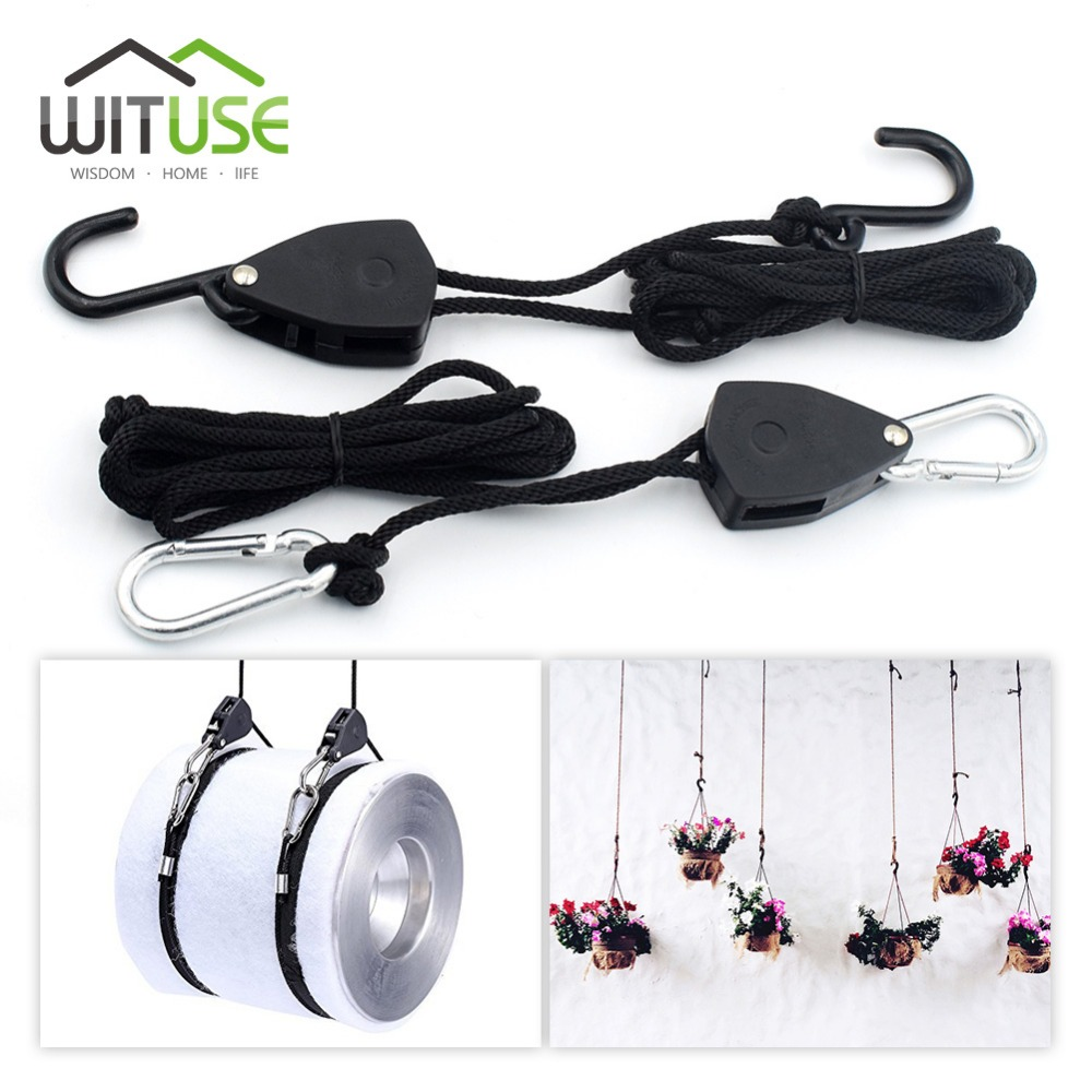 Strap Hydroponics Tube Reflector HPS LED Grow Light Hanger Adjustable Rope System Rope Lock Bow Stern with Hook Home Accessories