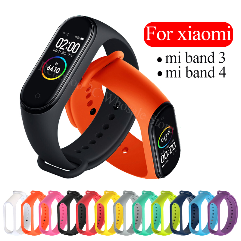 For Xiaomi Mi Band 4 Strap Silicone Sport Bracelet For Xiaomi Mi Band 3 Wrist Strap Accessories Miband 3 4 Miband3 Miband4 Cover