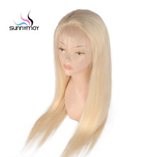 Sunnymay #613 Blonde Wigs 100% Silky Straight Brazilian Human Hair Blonde Full Lace Wig For Black White Women