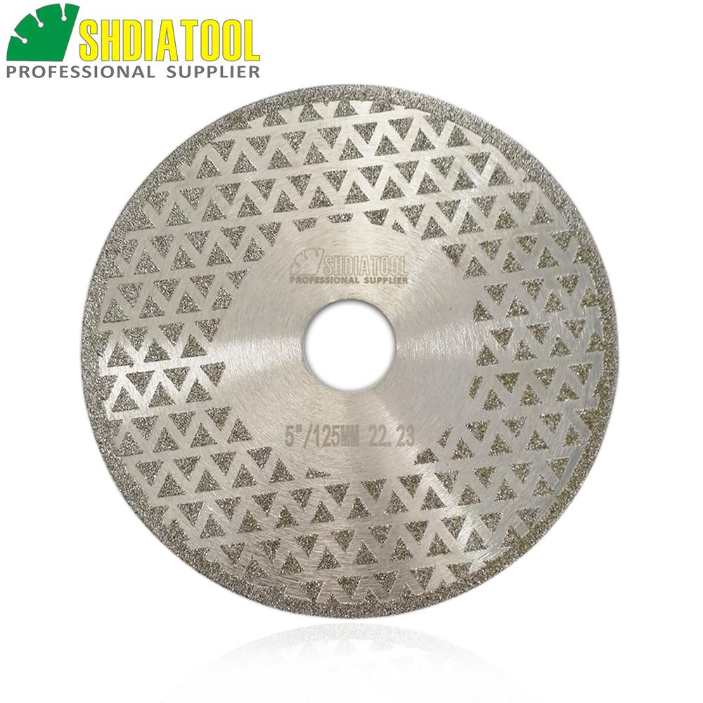 SHDIATOOL 1pc 180mm 7 quot Electroplated Diamond Cutting amp Grinding Blade Marble Disc Both Side Coated Stone Saw Blade Diamond Wheel in Saw Blades from Tools