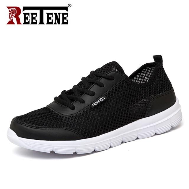 REETENE 2019 hommes chaussures été baskets maille chaussures hommes décontractées mode confortable chaussures plates pour homme Tenis Feminino Zapatos grande taille