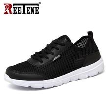 Reetene 2019 男性靴夏スニーカーメッシュカジュアルメンズシューズファッション comfortble 男性 tenis feminino zapatos プラスサイズ