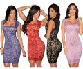 Nuevo 2016 mujeres vestido de encaje Sexy Vestidos de Encaje Ilusión Vintage Novedad Vestido LC21036 Plus Tamaño Sml XL XXL